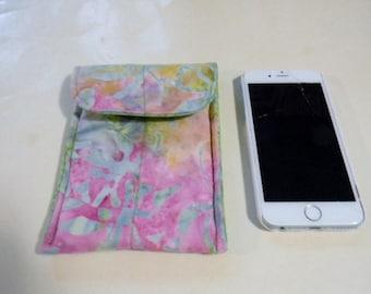 Multi Color Floral Batik Cell Phone/iPhone Case