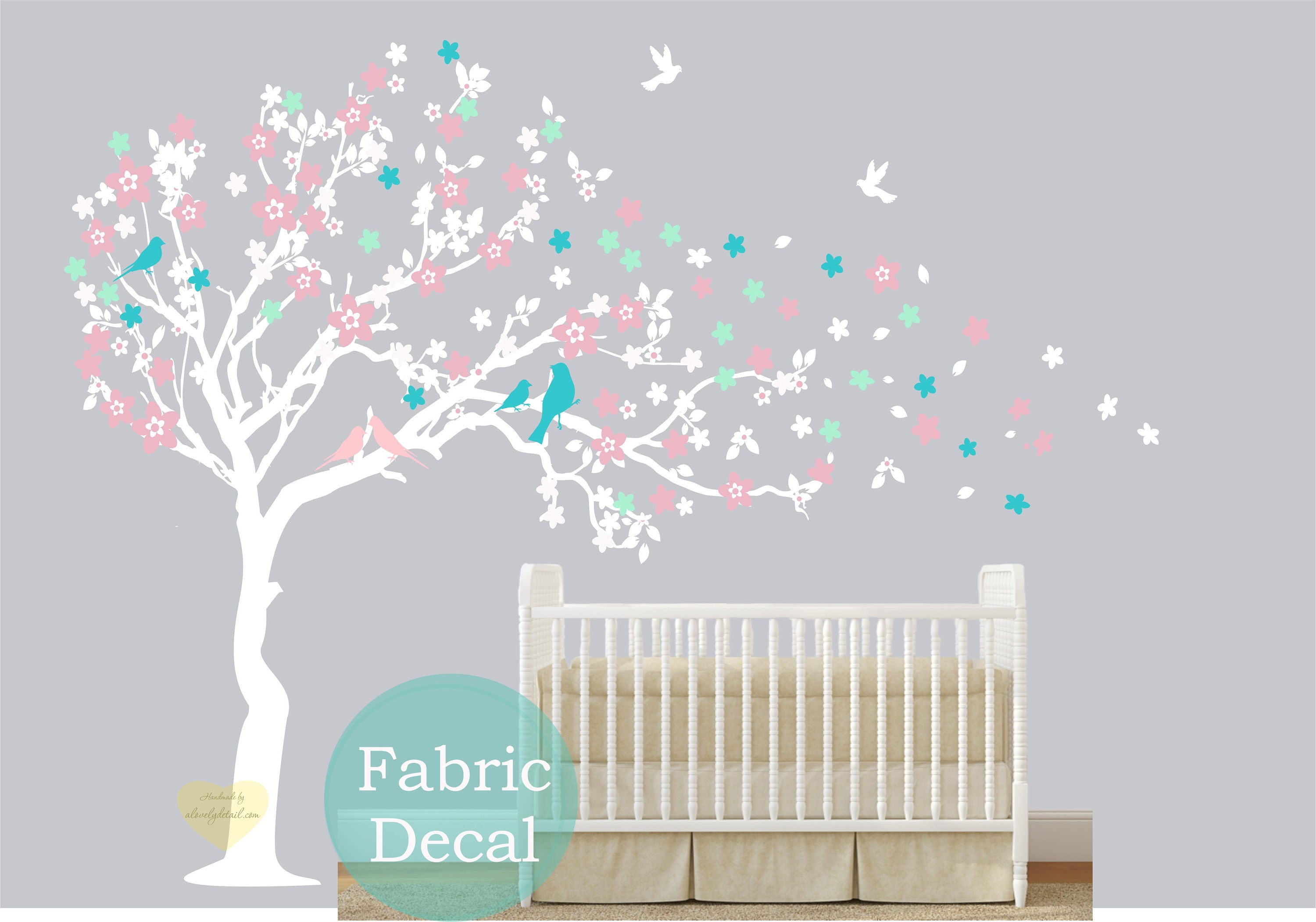 Cherry blossom Wall decal  fabric re usable Wall decal for nursery  large Tree wall  sc 1 st  Get Fashion Womens Mens and Kids online Shoes clothing ... & Cherry blossom Wall decal  fabric re usable Wall decal for nursery ...