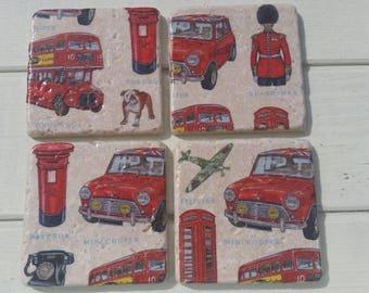 London Stone Coaster Set of 4 Tea Coffee Beer Coasters