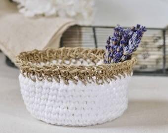Crocheted Bowl-White