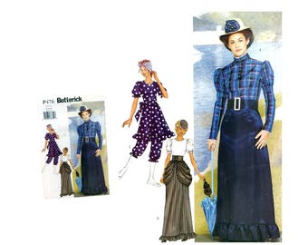 Misses Victorian Dress Pattern Costume Pattern Misses Bustle Pattern  Misses Pantaloons Misses size 8 10 12 Butterick P476 Sewing Pattern