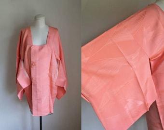 vintage haori - SHOGA coral kimono jacket (deadstock)