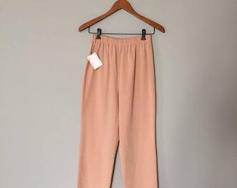 25% OFF SALE... SALE...dusty rose matchstick pants | 80s skinny pants