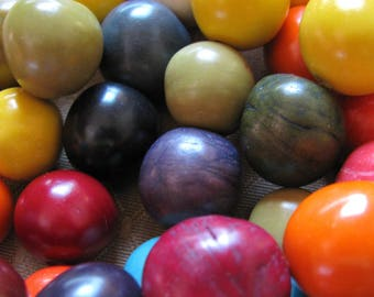 Bombona Beads, Pambil Beads, Mixed Color Beads, Organic Beads, Natural Beads, EcoBeads