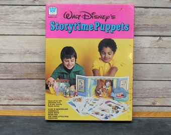 Walt Disney Storytime Puppets by Whitman, New in Orignal packaging