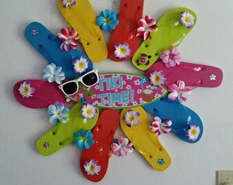 TIKI TIME Flip Flop Wreath