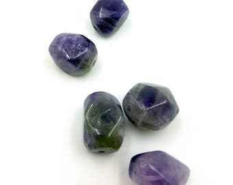 Amethyst Nugget Beads, Purple Beads, Natural Gemstone Beads, Purple Nugget Beads, Beads for Jewelry Making, Smooth Chunk Bead, Amethyst Bead
