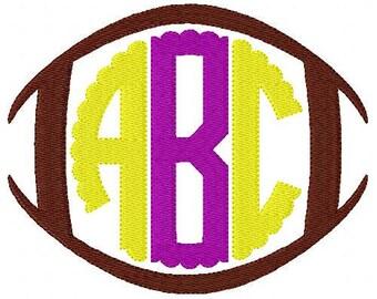 Football // Circle // Scallop // Three Letter // Monogram Machine Embroidery Font Design Set // Joyful Stitches