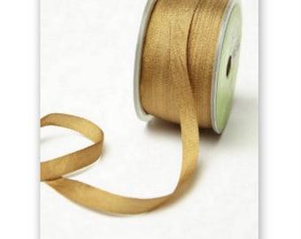"4 Yards Narrow 1/4"" wide ANTIQUE GOLD SILK  Ribbon Trim  cheswickcompany"