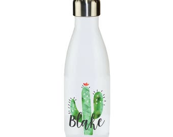 Water Bottle Cactus Personalized Water Bottle Custom Personalized Bridesmaid Birthday Gift Sports Bottle Insulated Bottle Personalized Gift