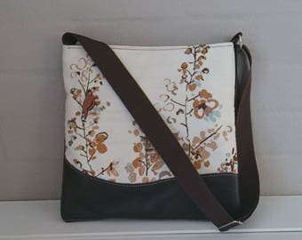 Tote: Brown Leather and Brown Trees