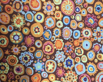 1 3/4 Yards Kaffe Fassett GP 20 Paperweight Brown Orange Westminster Rowan