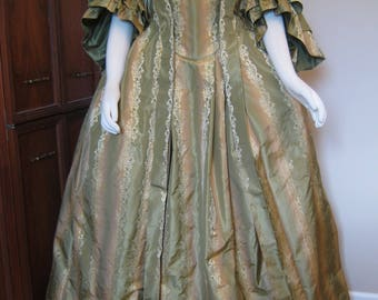 French Colonial Gown and Petticoat