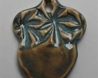 Handcrafted Ceramic Acorn Pendant PEN160814