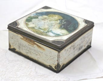 English Candy tin Antique candy tin
