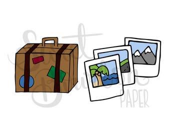 Travel // Hand-Drawn Planner Stickers
