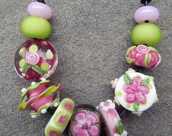SALE Nantucket, Set 1 Lampwork Beads