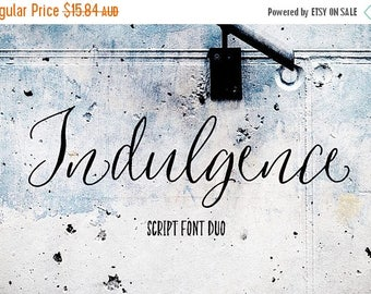 80% OFF Indulgence Script Font, Hand drawn Wedding Font, Calligraphy, Signature Typeface, Hand Written font, brush font