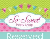 Reserved for Sara McDonald
