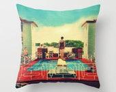 Throw Pillow Covers 18x18, Decorative Pillow for Couch, Coastal Pillow, Coastal Gift, Vintage Beach Decor, Vintage Beach Art PIllows