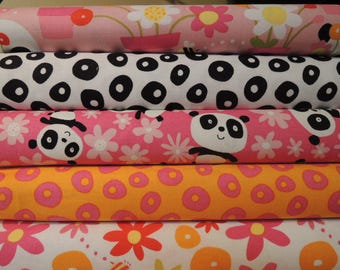 Panda,  Rag Quilt Kit, Easy to Make, Personalized, Bin M, Optional Sewing Available