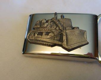 Bulldozer vintage Belt Buckle