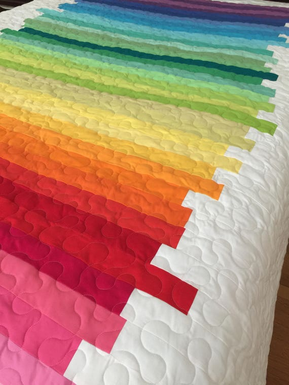 Line Art Quilt Kit : Quilt line art abstract twin made to order