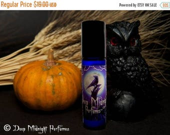 15% off SAMHAIN NIGHT Perfume Oil - Frankincense, Amber, Apples, Red Wine - Gothic Perfume
