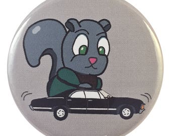 Dean Winchester Supernatural Squirrel 2.25 Inch Geek Button