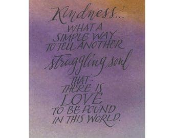 Kindness....Original art (#47) from 365 project (year 5)