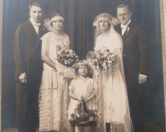 Antique Photo Photograph Flapper Girl Wedding Bridal 1920's 1930's--Lot #2