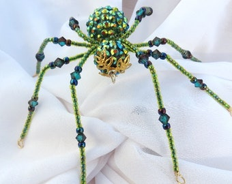 Beaded Christmas Spider Ornament Folk Tale Legend of Tinsel and Garland