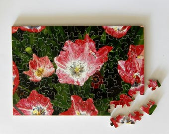 """Hand cut """"Tulip Happiness"""" Jigsaw Puzzle"""