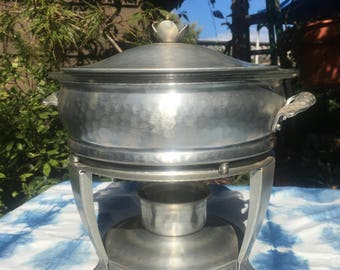 Vintage Aluminum Chafing Dish