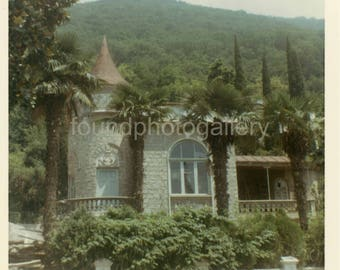 Vintage Photo, Dacha, Summer Home, Gagra Russia, USSR, Soviet Union, Cold War Era, Travel Photo, Color Photo, Snapshot, Old Photo