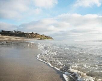 "Beach Wall Art, Seaside Landscape, Beach Landscape, Wall Art, Photography, Beach House Decor, Coastal  Southern California ""Peaceful Sea"""