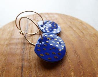 Gold Dash Hoop Earrings