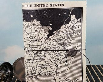 Travel Sale United States Map Travel Journal with Vintage Black and White  Political Divisions Map Cover
