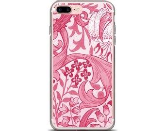 Botanical Phone Case Pink Floral Design Vintage Floral iPhone 6 Case Floral iPhone 7 Case Flower Phone Case iPhone 8 Case