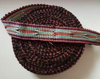 Uzbek handwoven cotton trim Jiyak. Tribal ethnic, boho, hippy trim. NTR029