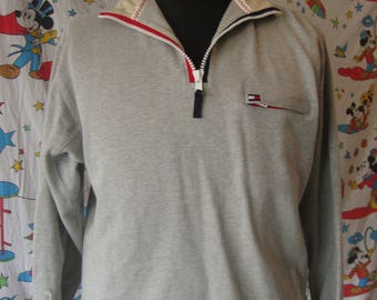 Vintage 90's Tommy Hilfiger Athletics Red Pullover Jacket Sz 2XL