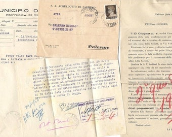 2 x Italian antique handwritten DOCUMENTS - Paper ephemera from ITALY