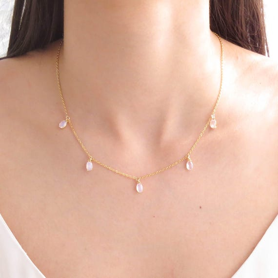 Dainty 5 Stone Necklace