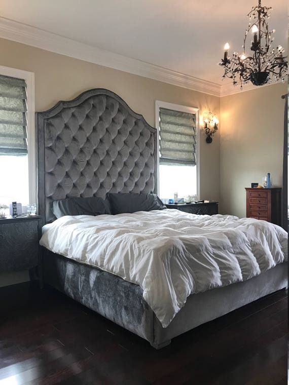 Tall Tufted Bed King Queen Full Twin Extra Tall California