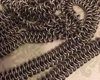 SALE 1 foot High Quality solid brass antique silver plated mesh chain 11mm