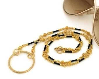 ON SALE Gold Eyeglass Chains / Gold Eyeglass Holders / Gold Eyeglass Leashes / Gold Eyeglass Necklaces / Gold Eyeglass Lanyards