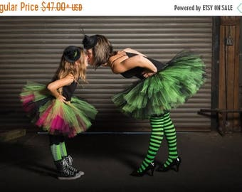 Summer sale Adult Tutu  - Witch Tutu -Witch costume - Woman tutu -  Ladies Tutu  SEWN tutu Teen Tutu  tutu skirt - tulle skirt - Halloween t