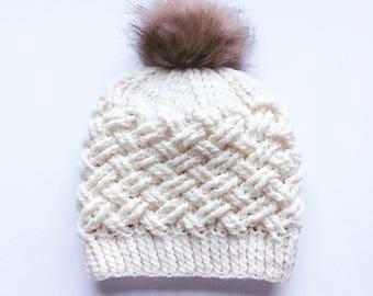 CROCHET PATTERN, The Annsley Crochet Hat Pattern, Crochet Hat Pattern, Crochet Cables, Craft Supply, DIY Hat Pattern