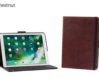 SECONDS - The Oxford Leather iPad Pro 12.9 Case with Pencil Holder - Chestnut | Leather iPad Pro Case (Non working magnet)