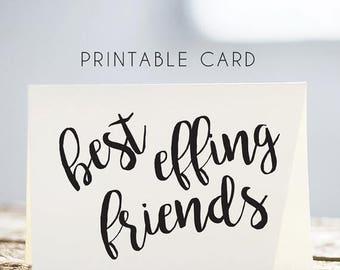 50% OFF birthday card for friend, best friends card, best friends printable card, printable birthday card friend